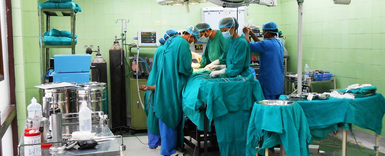 Surgical team in Kathmandu