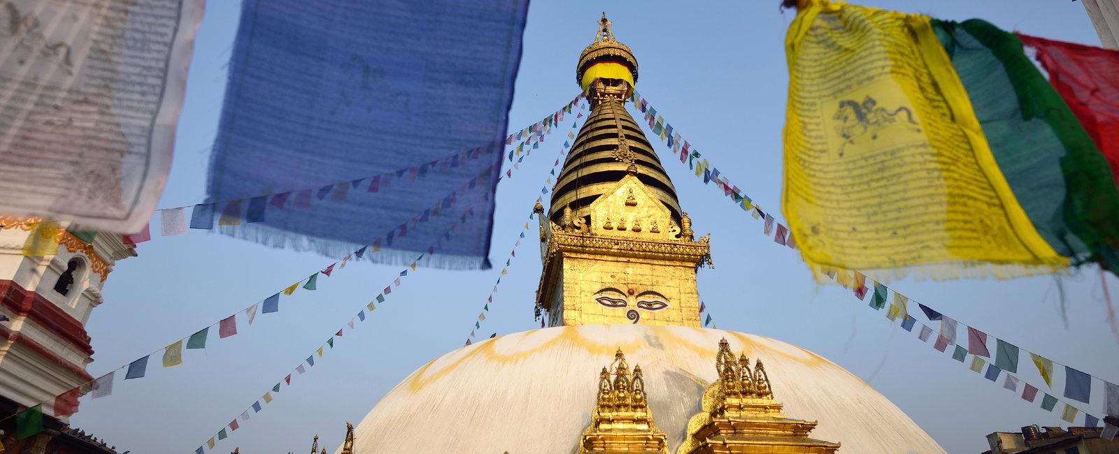 The wisdom eyes, Swayambhunath Monastery, Nepal
