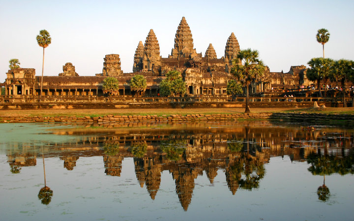 """Angkor Wat temple, reflected in evening light - Siem Reap, Cambodia.Some of my other popular travel images:"""